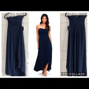 Lulus strapless high low dress